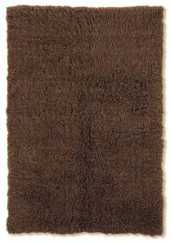 new flokati cocoa area rug by linon home decor in high pile rugs