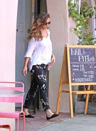 minka kelly gets her nails done in west hollywood zimbio