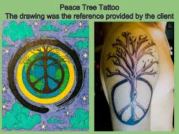 peace tree and polynesian tattoos covered canvases by chris