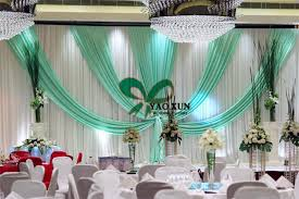Wedding Backdrop And Stand 3m 6m White And Turquoise Wedding Backdrop Stage Curtain And The