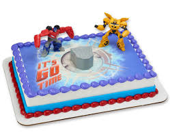optimus prime cakes transformers optimus prime bumblebee it s go time photocake