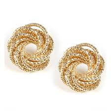 gold earring studs gold coiled stud earrings polyvore