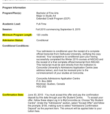 Business Acceptance Letter Sample by Understanding Your Offer Of Admission