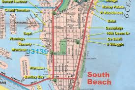 Map Of South Beach Miami by South Beach Saunter Barney Cools