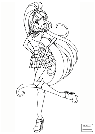 Coloring Pages Musa Charmix Cartoons Winx Club Coloringbooks7 Com Winx Club Musa Coloring Pages