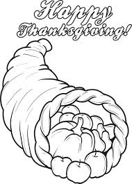 free printable cornucopia thanksgiving coloring page for 3