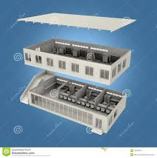 exploded building concept royalty free stock photography image