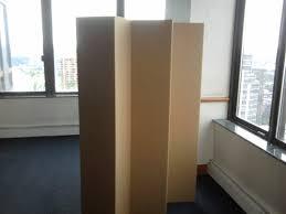 5 1 2 ft tall durable cardboard diy room divider diy room