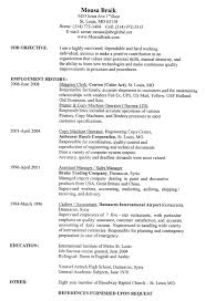 Resume Templates Word 2007 Resume Word Format Free Resume Example And Writing Download