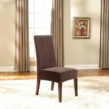Dining Chair Cover Sure Fit Stretch Leather Short Dining Room Chair Cover Brown
