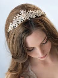bridal tiara serenity pearl tiara shop wedding crowns usabride