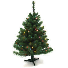 real mini christmas tree with lights artificial pine tree ebay