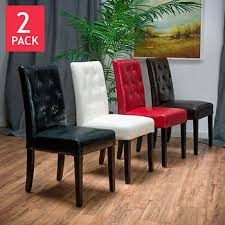 Red Dining Chair Angelo Dining Chair 2 Pack Bonded Leather