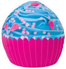 iscream sweet treats giant blue icing cupcake microbead pillow