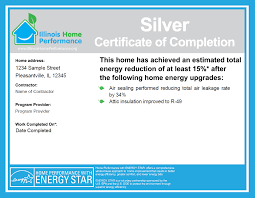 examples of certificates of completion the ihp certificate of completion illinois home performance