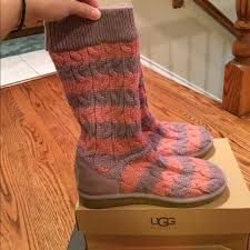 s pink ugg boots sale 72 ugg shoes purple and pink sweater uggs from k s closet