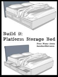 free plans to build a cal king platform storage bed diy wood
