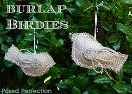 posed perfection burlap bird ornaments