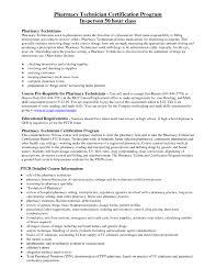 Entry Level Pharmacy Technician Resume Hospital Pharmacy Technician Resume Free Resume Example And