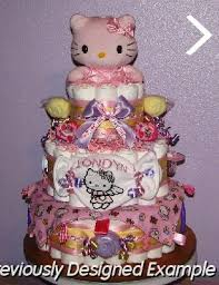 baby diaper cakes kitty diaper cakes
