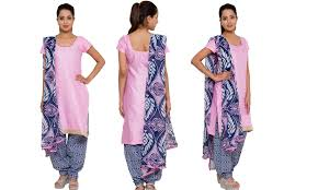 pink colour combination dresses awesome cotton satin dress materials with dupatta below rs 600