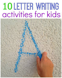 fun ways to practice writing letters writing letters literacy