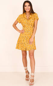 pretty dress something pretty dress in mustard floral showpo