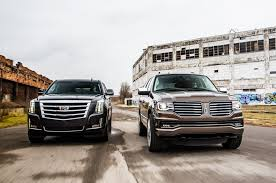 future cadillac escala 2015 cadillac escalade vs 2015 lincoln navigator comparison