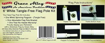 Flag White On Top Red On Bottom Amazon Com Flag Pole Kit Outdoor Flag Pole Kit Includes Tangle