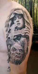 religious arm tattoo idea tattoo shortlist