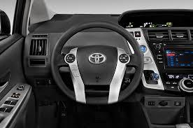 Interior Of Toyota Prius 2014 Toyota Prius V Steering Wheel Interior Photo Automotive Com