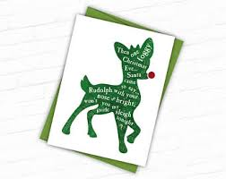 rudolph christmas card nerd xmas card chemistry holiday