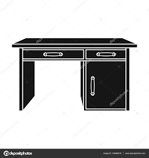 Office Desk Icon Office Desk Icon In Black Style Isolated On White Background