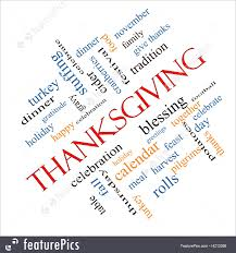 illustration of thanksgiving words