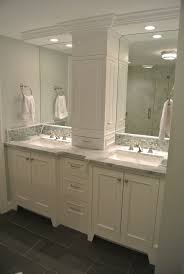 High Quality Bathroom Vanity Double Vanity Storage Tower Love The Doors On The Sides Instead