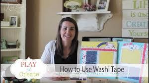 how to use washi tape youtube