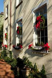Outdoor Windows Decorating Outdoor Holiday Decorating The Easy Way To Hang Window Wreaths