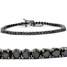 black diamonds bracelet images 14k white gold 3ct tdw black diamond tennis bracelet length 7 jpg