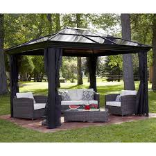 Outdoor Patio Canopy Gazebo by Gazebo Canopy Pergola This 10 X 12 Hardtop Gazebo Tent Has A