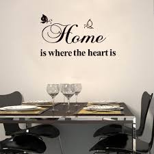 Home Is Where The Heart Is Kitchen Rules Black Wall Stickers Removable Art Vinyl Quote