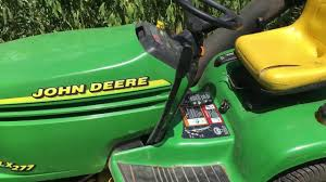 John Deere 48c Mower Deck Belt by John Deere Lx 277 Overview Youtube