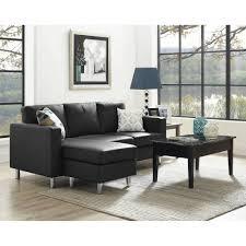 Leather Sectional Sofas Toronto Small Black Leather Sectional Sofa Hotelsbacau Com