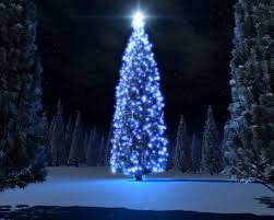 blue tree lights withe cord led bright