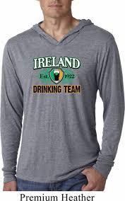 St Patrick U0027s Day Ireland Drinking Team Lightweight Hoodie Shirt