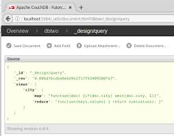 couchdb design document editor nodejs in visual studio code querying couchdb running on a vagrant