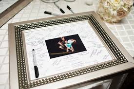 wedding guest book picture frame charming deet 258 guest books shay lynne weddings wedding guest