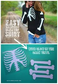 Halloween T Shirts For Girls Skeleton Shirt With Glow In The Dark Vinyl And Giveaway A