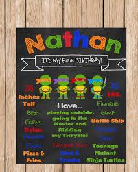 ninja turtle party invitations badbrya com