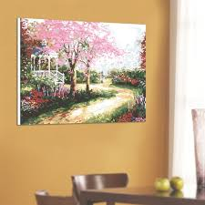 cherry home decor village cherry blossomshome decor diy acrylic oil paint by number
