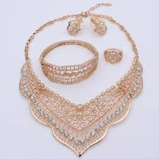 new gold set 2017 new fashion bridal jewelry sets dubai gold plated costume big